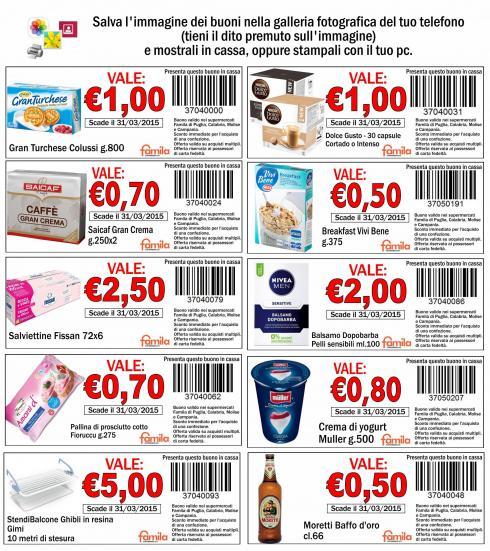 Stampa buoni sconto da usare nei supermercati famila for Buoni coupon